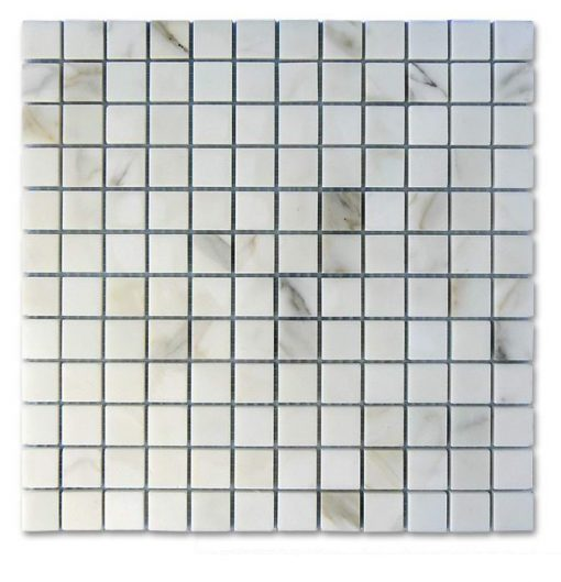 "Calacatta Gold Honed Verona 1""x1"" Mosaic"