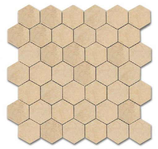"Halila Honed 2"" Hexagon Mosaic"