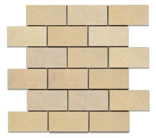 "Halila Honed 2""x4"" Brick Mosaic"