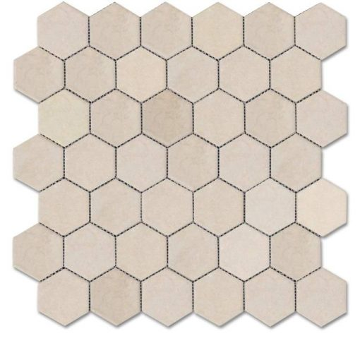 "Pebble Beach Tumbled 2"" Hexagon Mosaic"