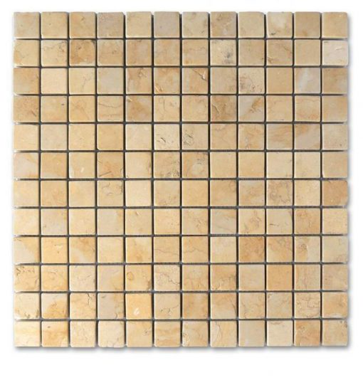 "Jerusalem Gold Tumbled 1""x1"" Mosaic"