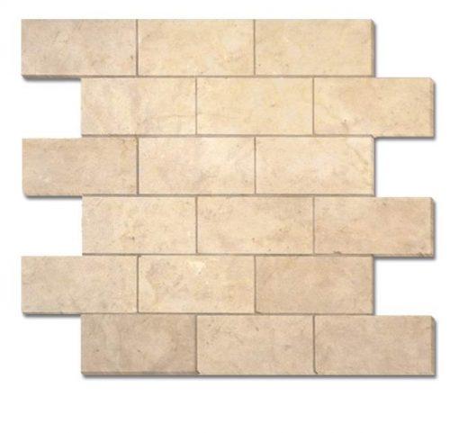 "Tala Cream Parma 2""x4"" Brick Mosaic"