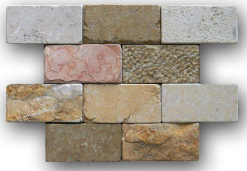 "Biblical 2""x4"" Brick Mosaic"