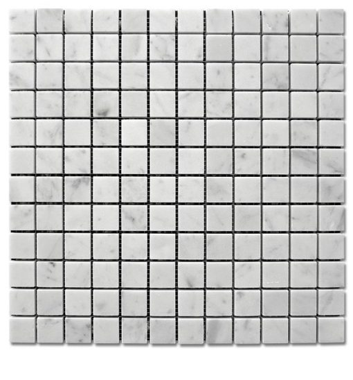 "Bianco Carrara Honed 1""x 1"" Mosaic"