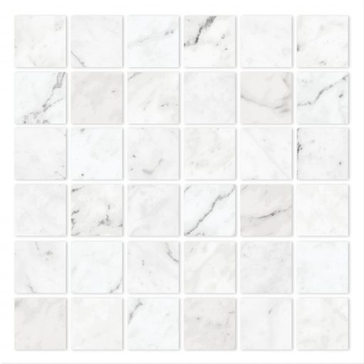 Time Worn White Carrara 2x2 Mosaic