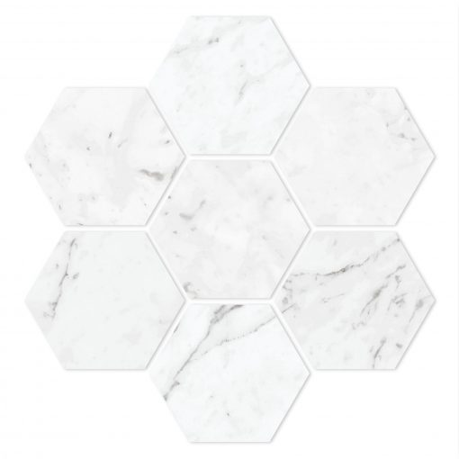 Time Worn White Carrara Hexagon