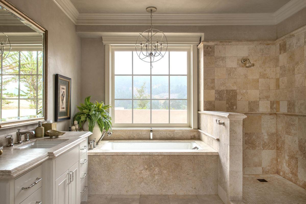 Jerusalem Grey Gold Limestone Bathroom