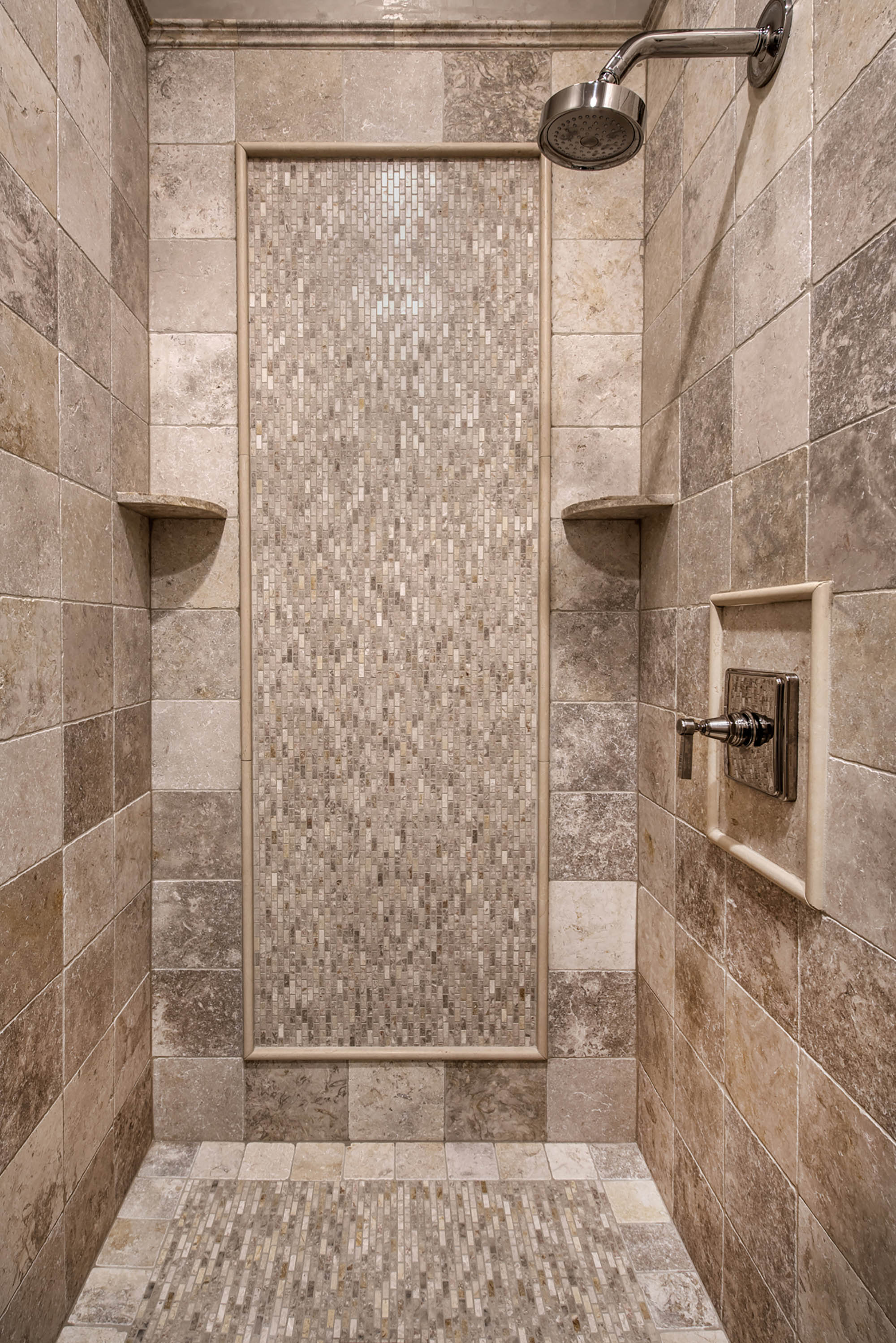 Jerusalem Grey Gold Limestone Shower Carmel Stone Imports
