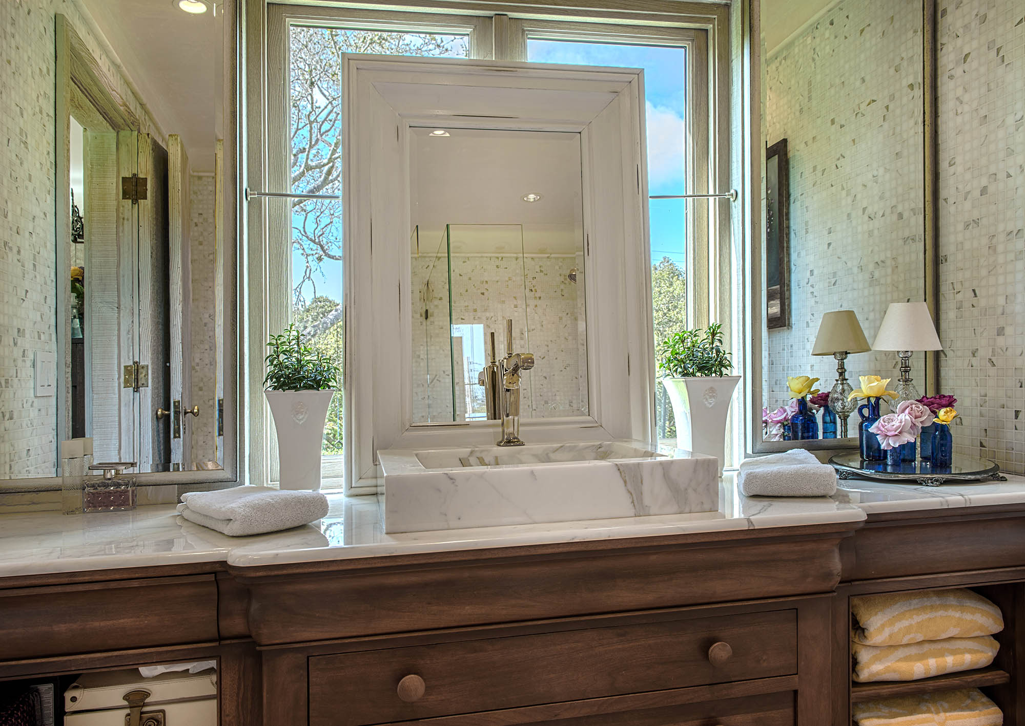 Calacatta Gold Marble Bathroom Carmel Stone Imports