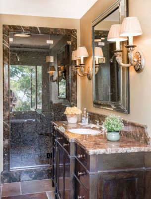 Emperador Dark Marble Bathroom