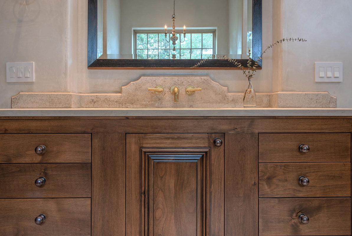 Jerusalem Grey Gold Limestone Bathroom Vanity