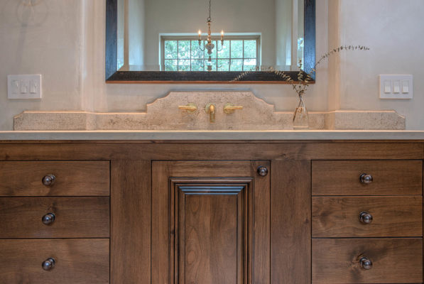 Jerusalem Grey Gold Limestone Bathroom Vanity