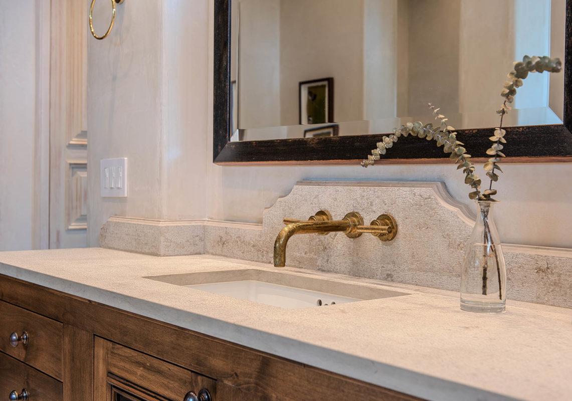 Jerum Grey Gold Limestone Bathroom