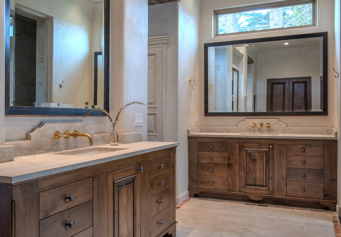 Jerusalem Grey Gold Limestone Bathroom
