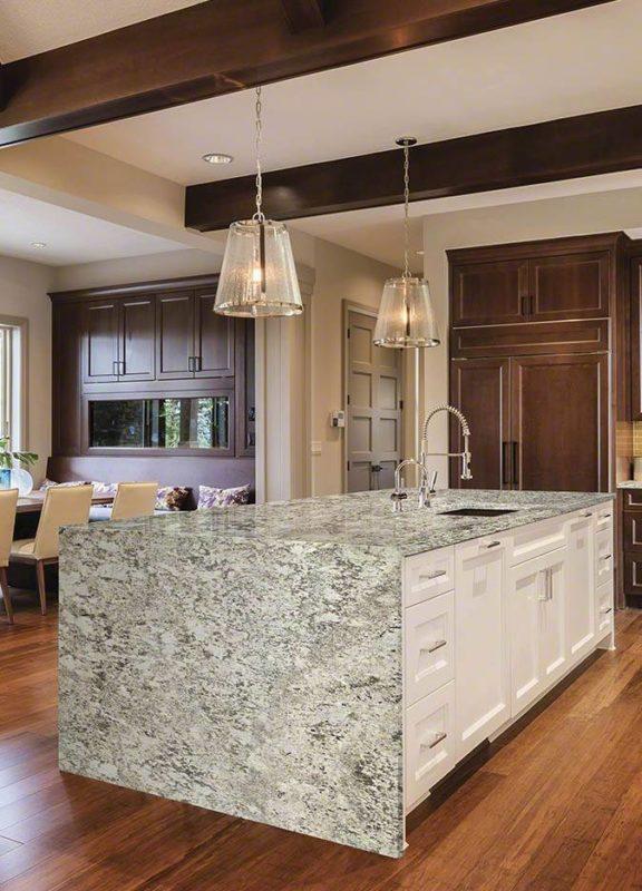 Bianco Antico Granite Kitchen Island