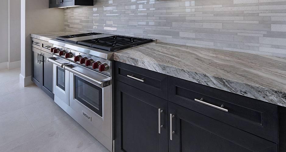 Breaking Waves Granite Kitchen Countertop