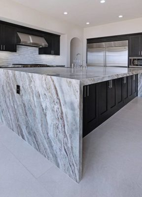 Breaking Waves Kitchen Island