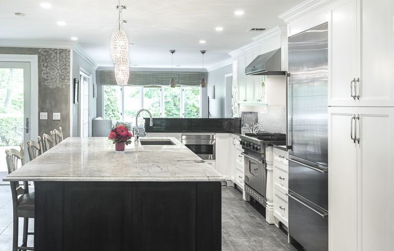 White Princess Quartzite Kitchen