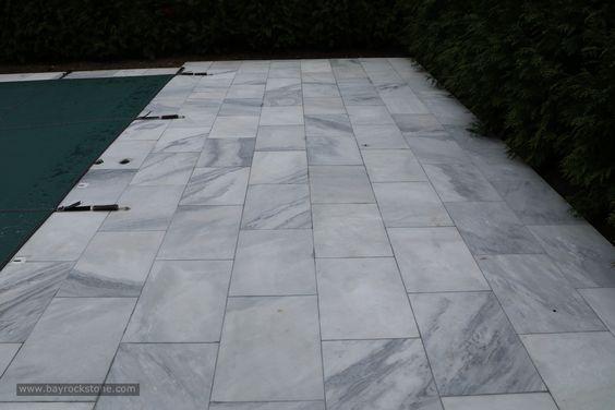 Bianco Carrara Marble Pavers Exterior Carmel Stone Imports