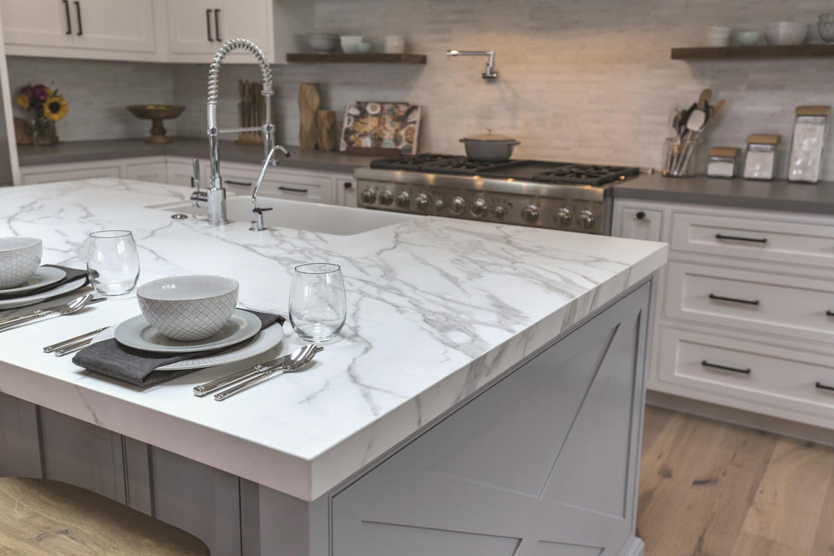 Kitchen Island Stone Tiles