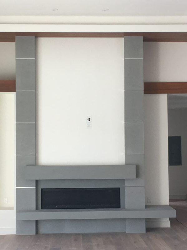 Pietra Serena Limestone Fireplace
