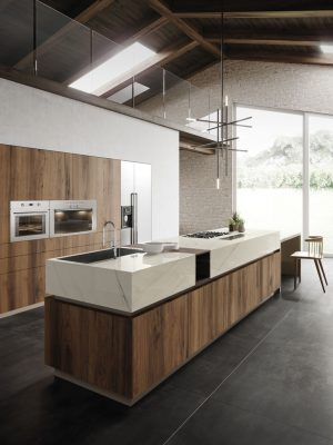 Kitchen with Porcelain Slab Counter