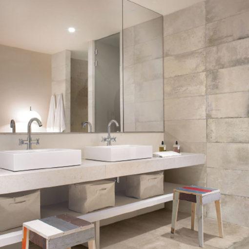 Clear Terra Cotta Bathroom