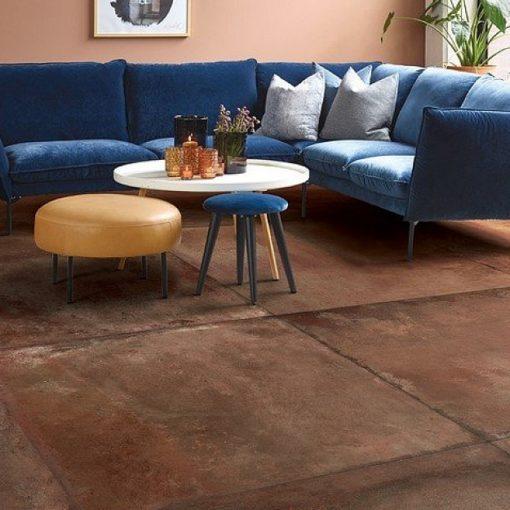 Red Terra Cotta Living Room
