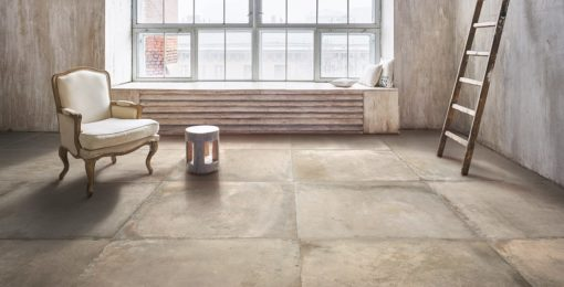Clear Terra Cotta Living Room