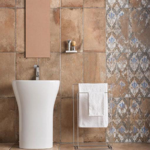 Natural Terra Cotta Bathroom