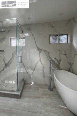 porcelain slabs bathroom santa cruz